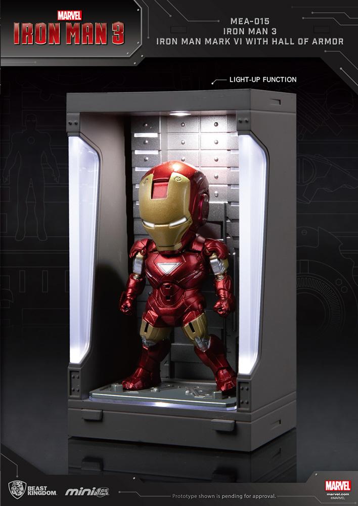 Iron Man 3 Mea-015 Figure: Iron Man Mk VI  (w/Hall of Armor) - Beast Kingdom Co., Ltd