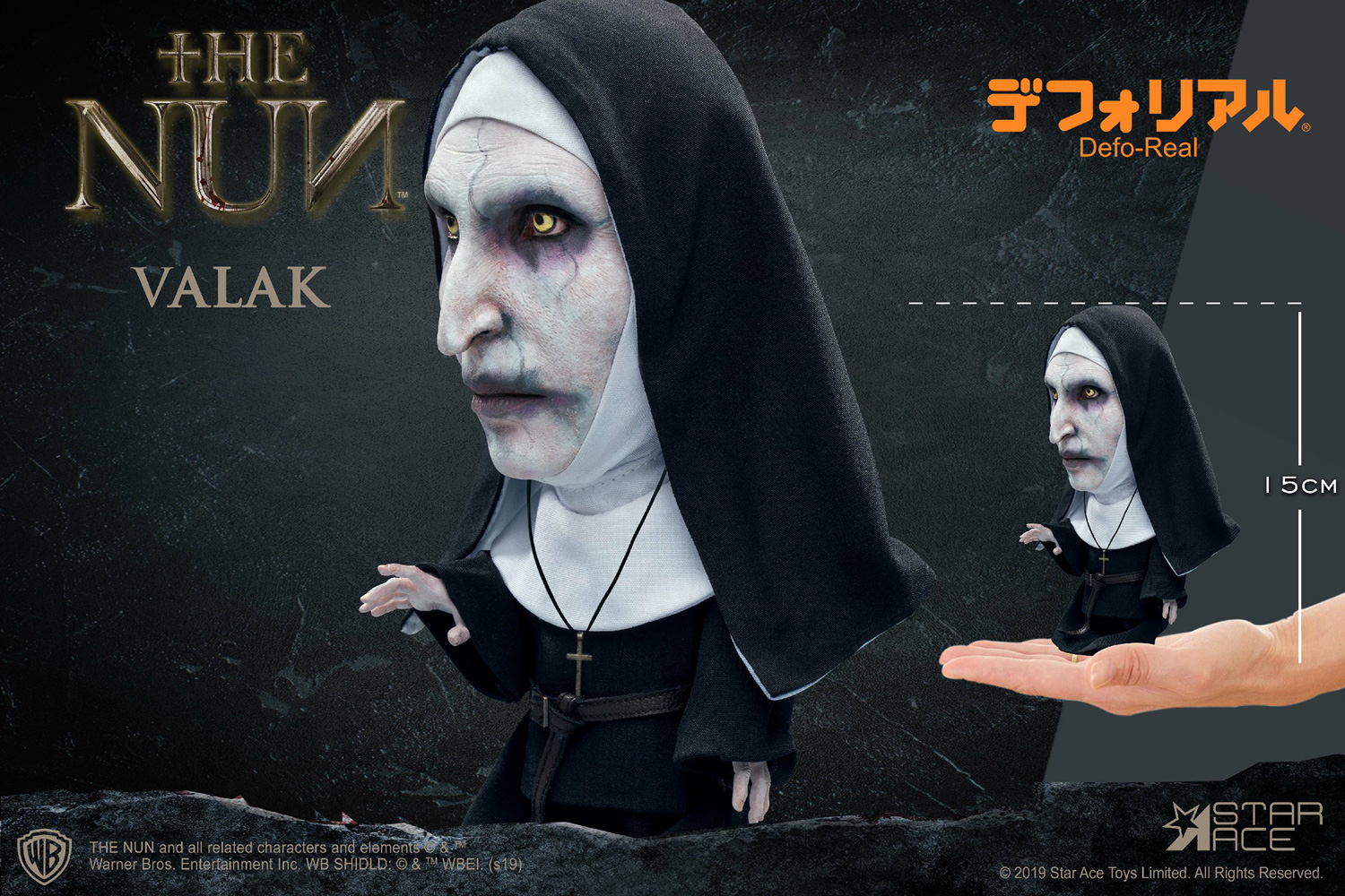The Nun Defo Real Soft Vinyl Statue: Valak Closed Mouth  - Star Ace Toys Limited