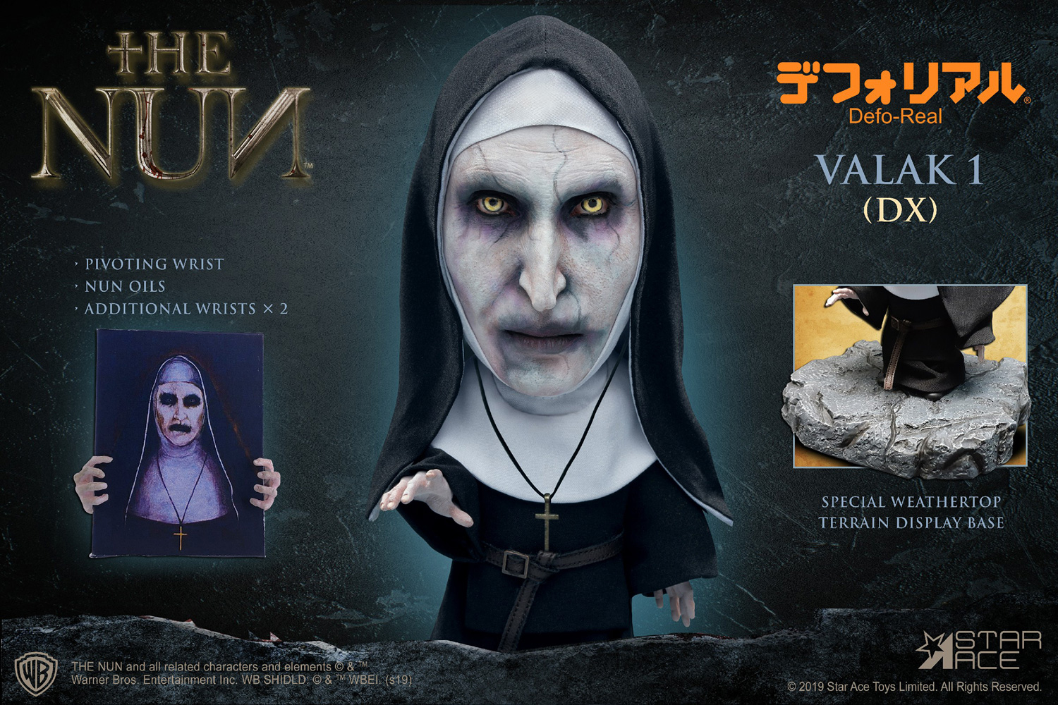 The Nun Defo Real Soft Vinyl Statue: Valak Closed Mouth  (deluxe) - Star Ace Toys Limited