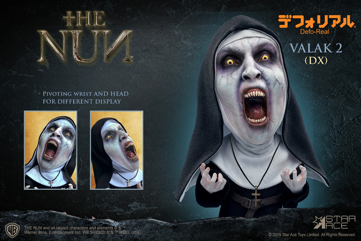 The Nun Defo Real Soft Vinyl Statue: Valak Open Mouth  - Star Ace Toys Limited