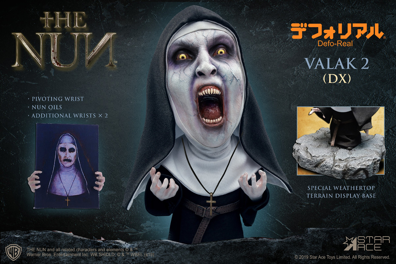 The Nun Defo Real Soft Vinyl Statue: Valak Open Mouth  (deluxe) - Star Ace Toys Limited