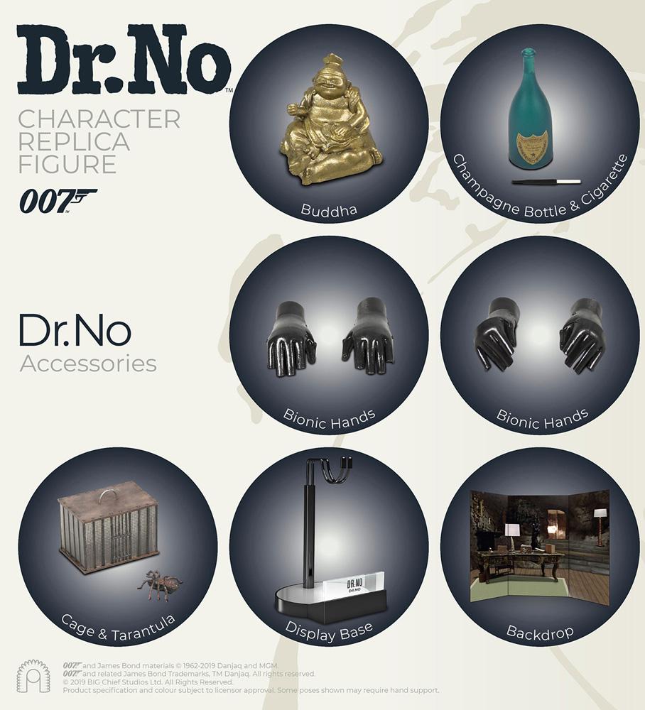 James Bond Dr. No Collectible Figure: Dr. No  (1/6 scale) - Big Chief Studios Ltd.
