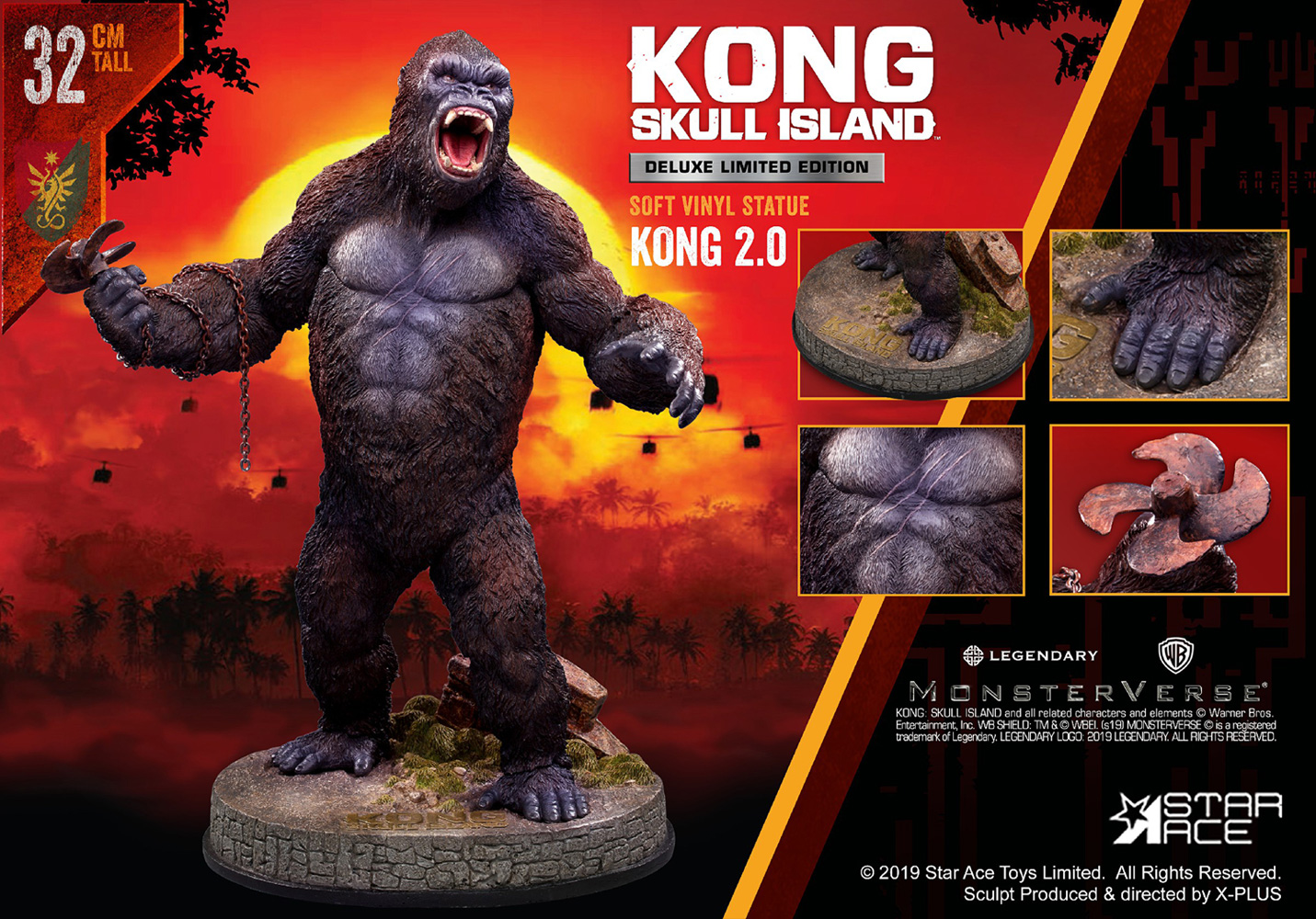 Kong Skull Island Soft Vinyl Statue: Kong 2.0  (deluxe version) - Star Ace Toys Limited