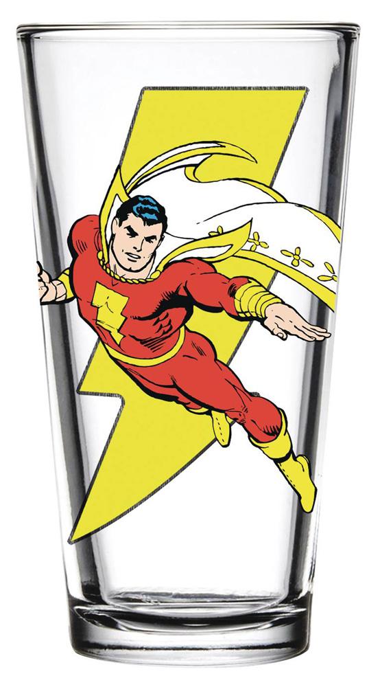 DC Toon Tumblers Pint Glass: Shazam  - Popfun Merchandising LLC