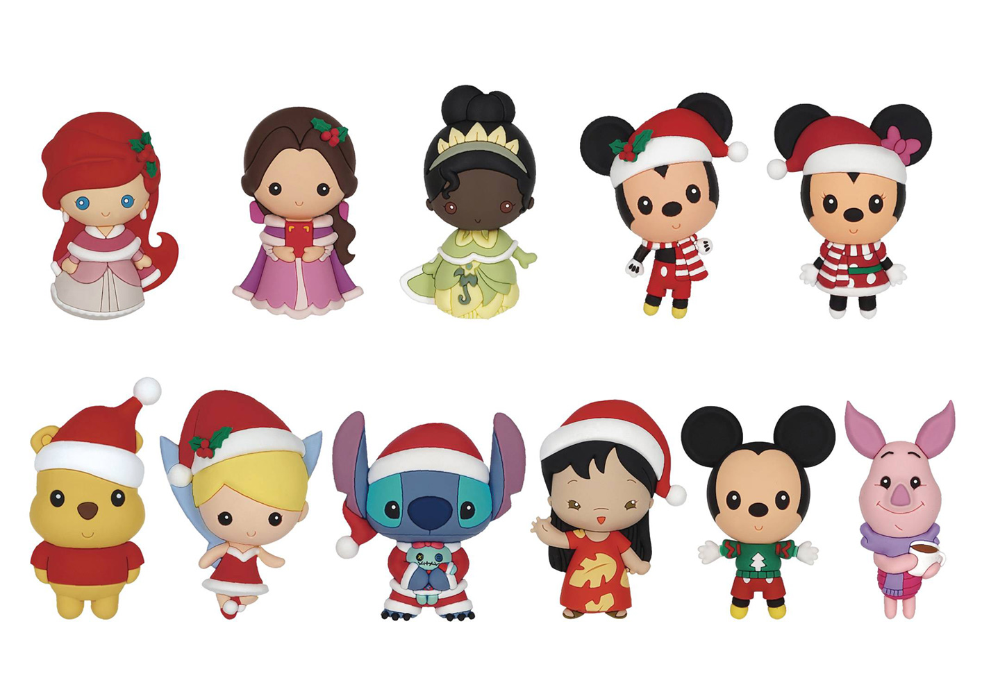 Image: Disney Christmas 3D Foam Bag Clip 24Pcs Blind Mystery Box Display  - Monogram Products