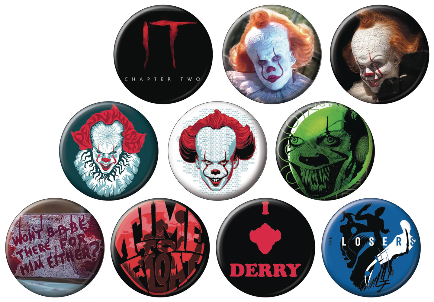 Image: Horror It Chapter Two 144-Piece Button Display  - Ata Boy