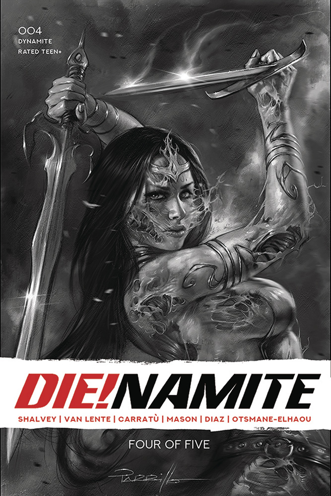 Image: Die!namite #4 (incentive 1:50 cover - Parrillo B&W virgin)  [2021] - Dynamite