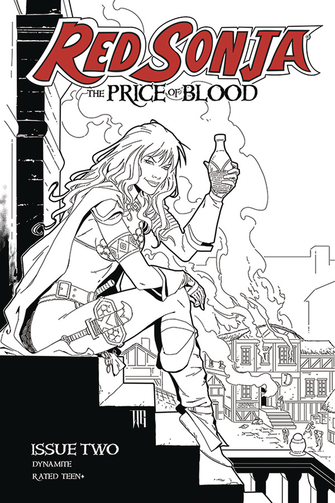 Image: Red Sonja: Price of Blood #2 (incentive 1:15 cover - Geovani B&W)  [2021] - Dynamite