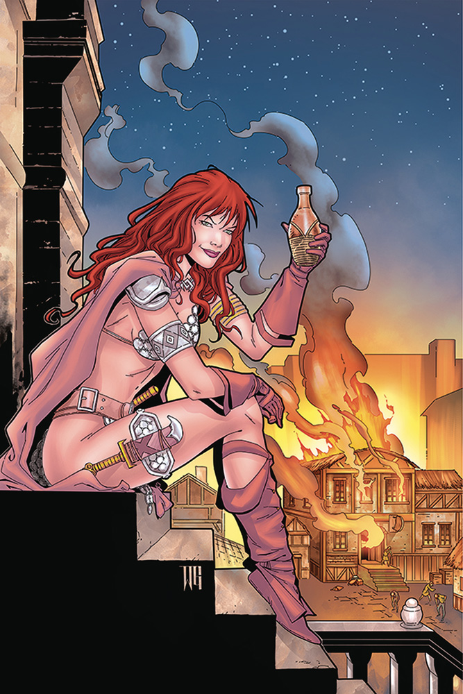 Image: Red Sonja: Price of Blood #2 (variant cover - Geovani virgin) - Dynamite