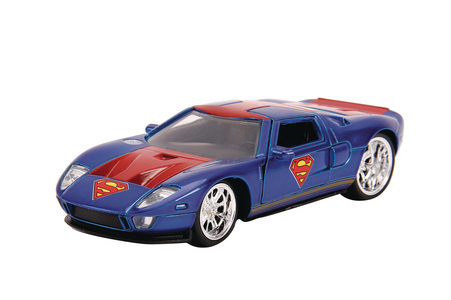 Image: DC Vehicle: Superman 2005 Ford GT  (1/32 scale) - Jada Toys, Inc