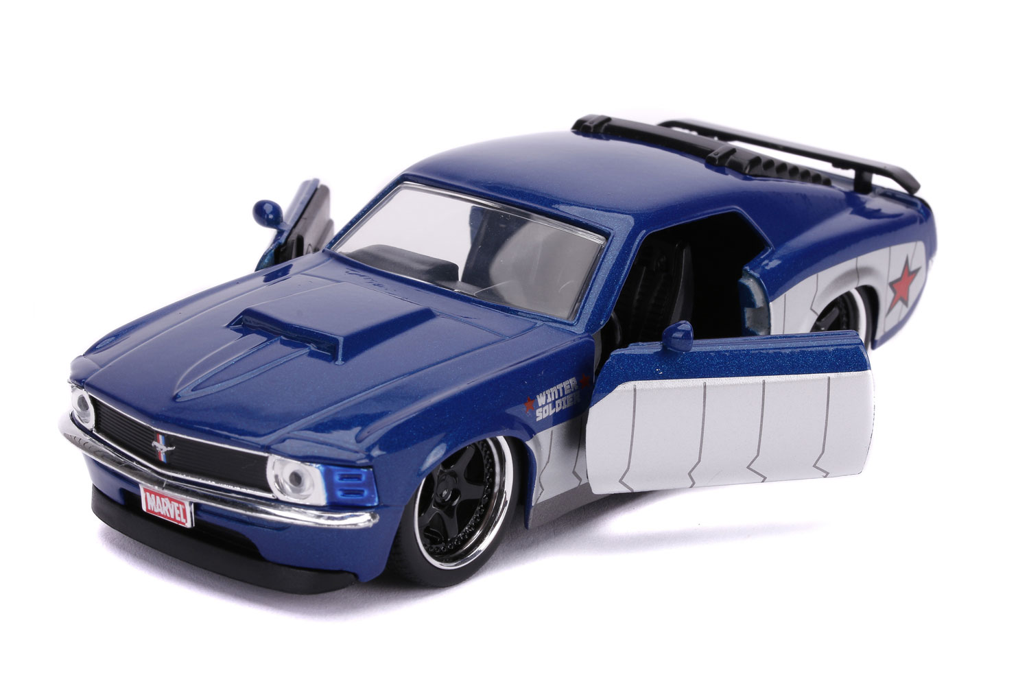 Marvel Vehicle: Winter Soldier 1970 Ford Mustang Boss  (1/32 scale) - Jada Toys, Inc