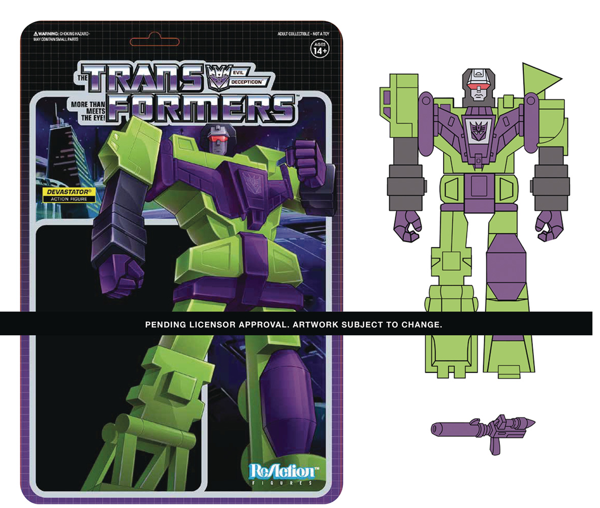Image: Transformers Large Scale ReAction Figure: Devastator  - Super 7