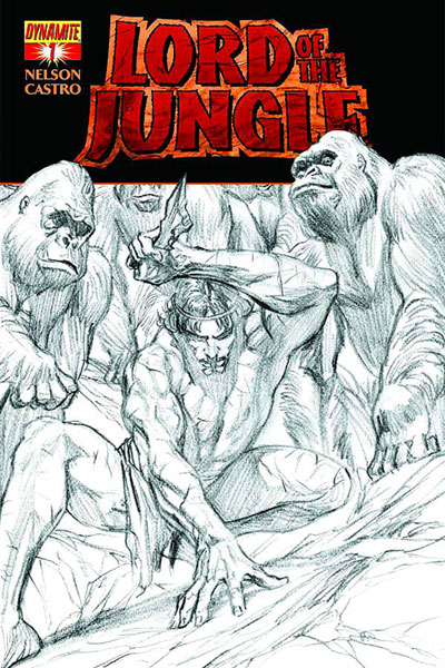 Image: Lord of the Jungle #1 (100-copy Ross sketch incentive cover) - Dynamite