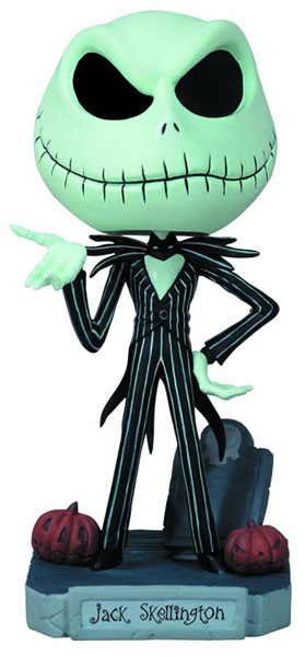 Nightmare Before Christmas Wacky Wobbler Bobble-Head: Jack Skellington  - Disney Collectibles & Novelties