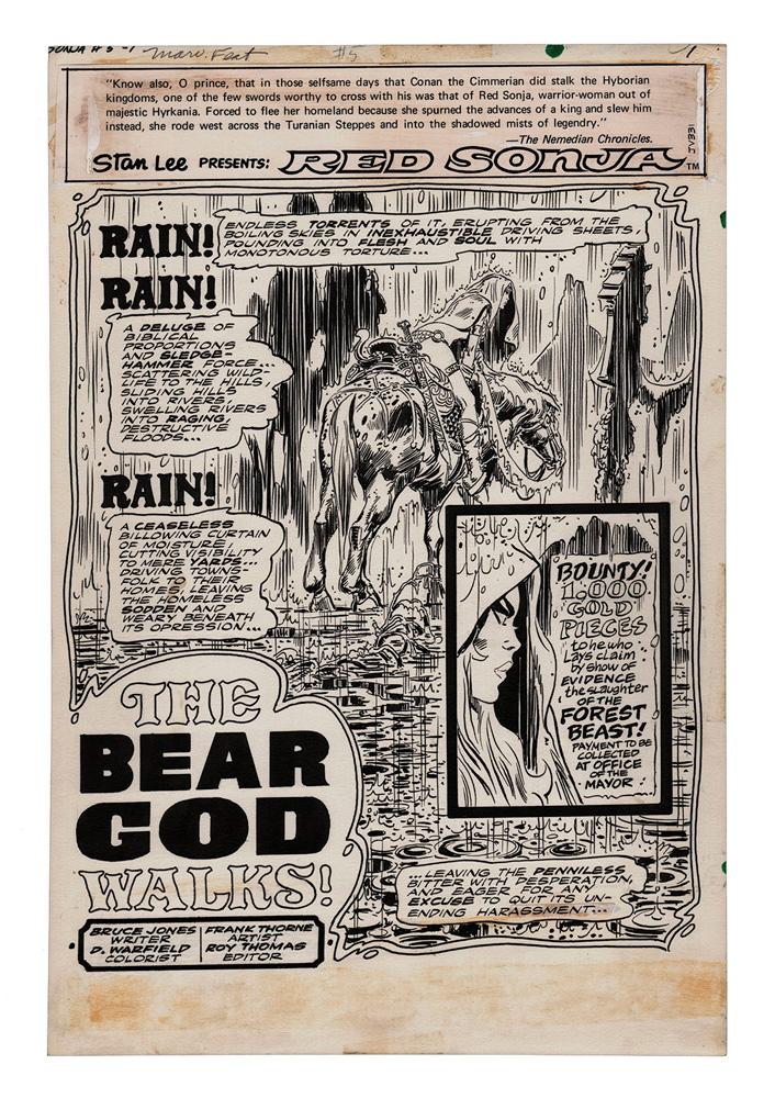 Frank Thorne's Red Sonja Art Edition HC  - Dynamite