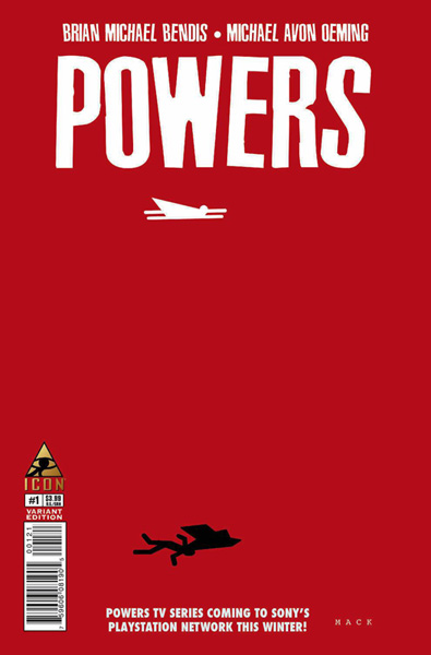 Image: Powers #1 (Mack variant cover - 00121) - Marvel Comics - Icon