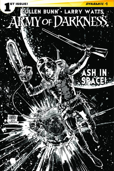 Image: Army of Darkness Vol. 04 #1 (Seeley b&w variant incentive cover - 01081) (20-copy) - Dynamite