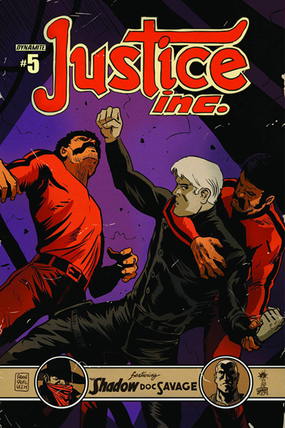 Image: Justice, Inc. #5 (variant cover A - Francavilla) - Dynamite