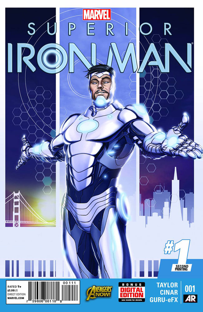 Image: Superior Iron Man #1 (variant 2nd printing cover - Mike Choi)  [2014] - Marvel Comics