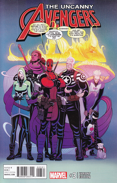 Image: Uncanny Avengers #3 (Moore variant cover - 00321) - Marvel Comics