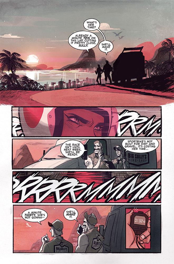 Motor Crush #1 (cover B - Stewart)  [2016] - Image Comics