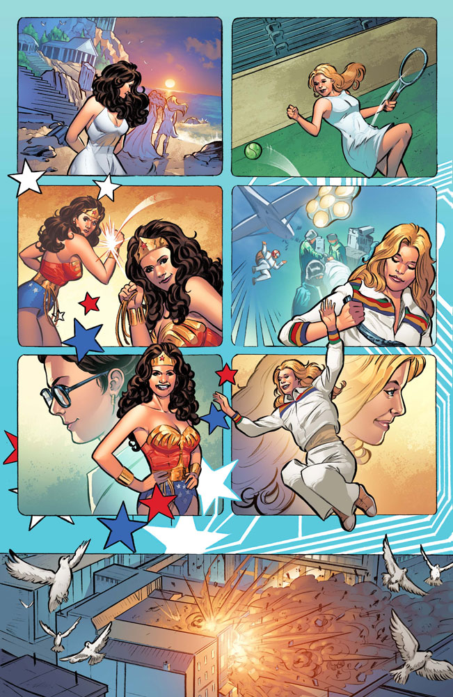 Wonder Woman '77 Meets the Bionic Woman #1 (cover A - Staggs)  [2016] - Dynamite
