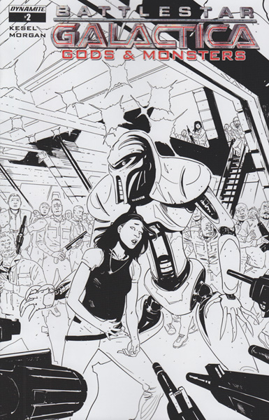 Image: Battlestar Galactica: Gods and Monsters #2 (B&W incentive cover - Morgan ) (10-copy)  [2016] - Dynamite
