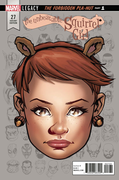 Image: Unbeatable Squirrel Girl #27 (Legacy) (variant cover - McKone Legacy Headshot)  [2017] - Marvel Comics