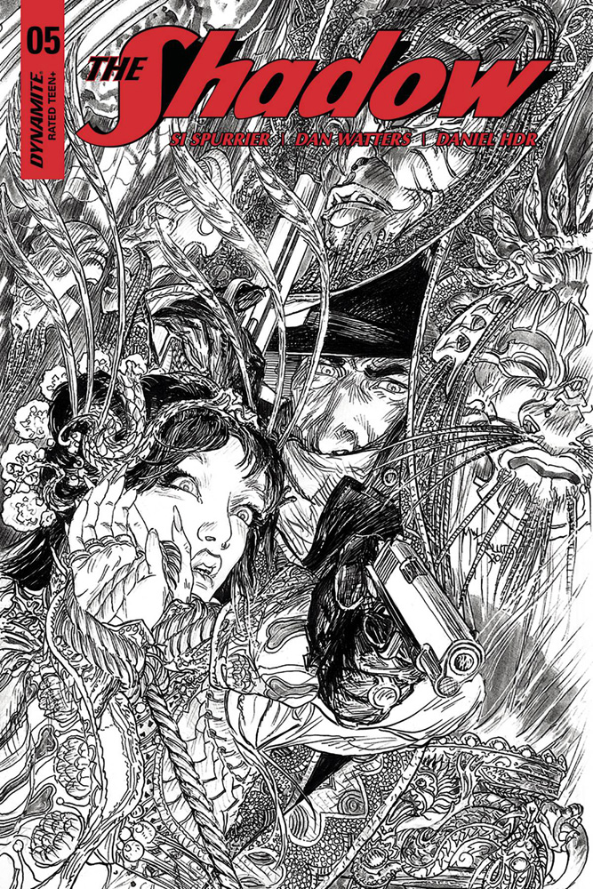 Image: Shadow Vol. 03 #5 (cover G incentive - Kaluta B&W) (40-copy)  [2017] - Dynamite