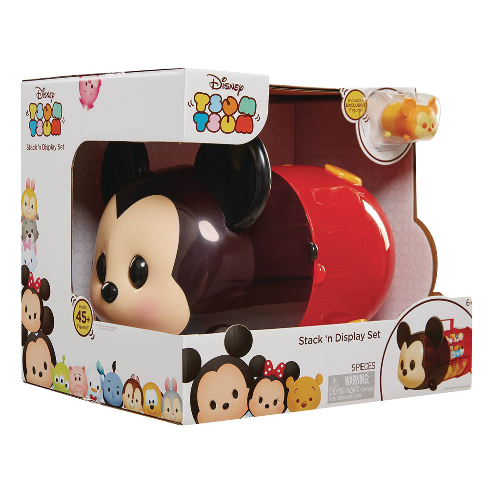 Image: Disney Tsum Tsum Mickey Portable Play Case  (w/Figure) - Jakks Pacific