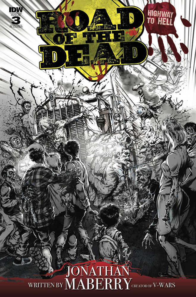 Image: Road of the Dead: Highway to Hell #3 (incentive cover - Santiperez) (10-copy)  [2018] - IDW Publishing