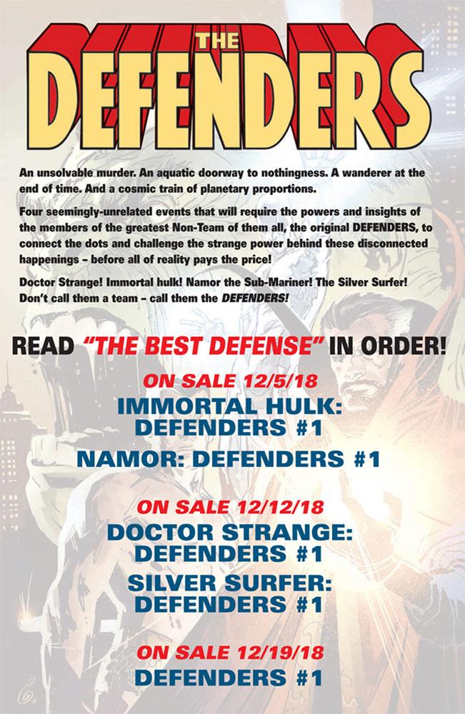 Namor: The Best Defense #1 (variant cover - Checchetto)  [2018] - Marvel Comics