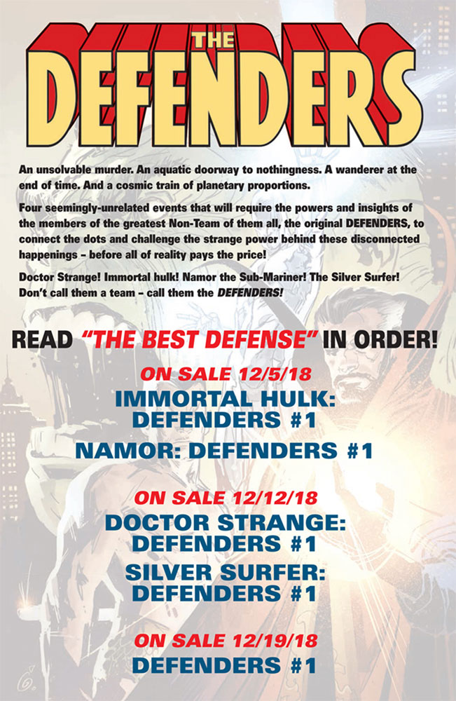 Defenders: The Best Defense #1  [2018] - Marvel Comics
