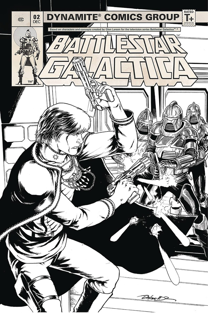 Image: Battlestar Galactica #2 (Classic) (incentive cover - HDR B&W) (20-copy)  [2018] - Dynamite