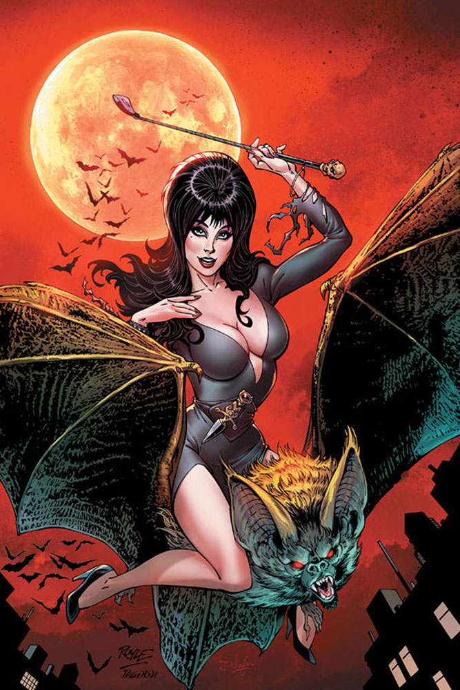 Image: Elvira: Mistress of the Dark #6 (incentive cover - Royle virgin) (20-copy)  [2018] - Dynamite