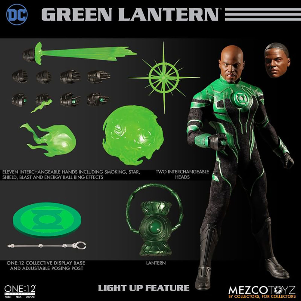 DC One:12 Collective Action Figure: Green Lantern John Stewart  - Mezco Toys