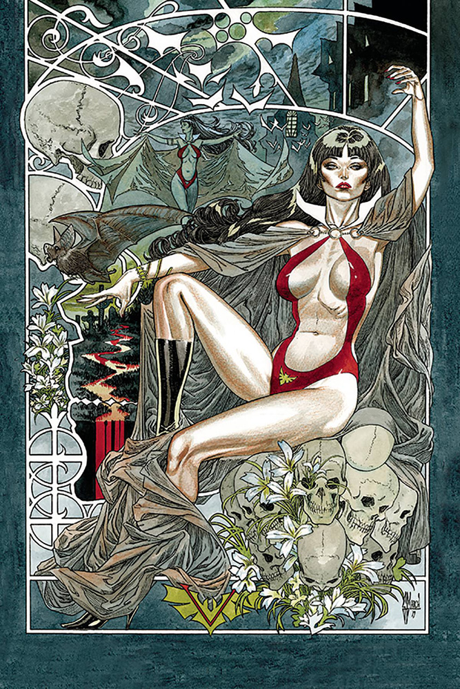 Image: Vampirella #6 (incentive 1:40 cover - March virgin) - Dynamite