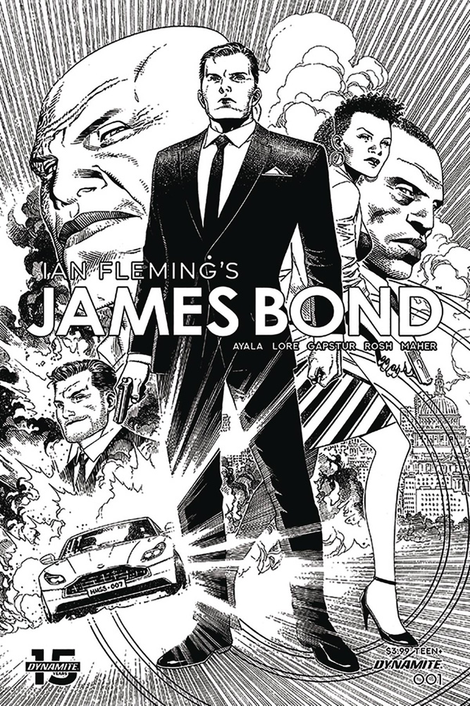 Image: James Bond #1 (incentive 1:10 cover - Cheung B&W)  [2019] - Dynamite