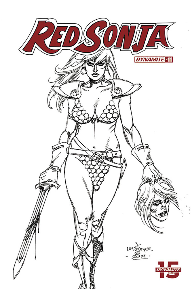 Image: Red Sonja Vol. 05 #11 (incentive 1:30 cover - Linsner B&W)  [2019] - Dynamite