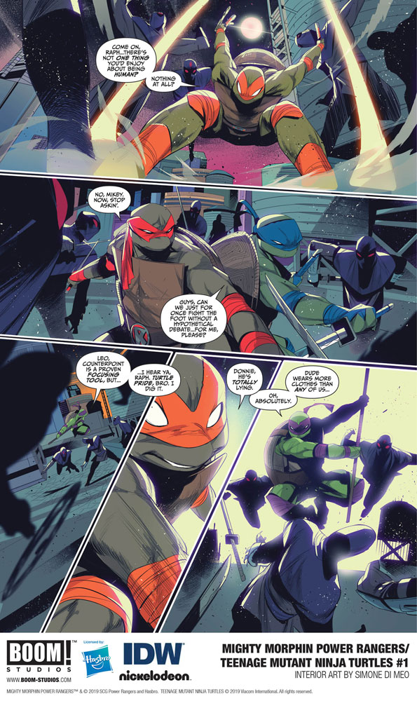Mighty Morphin Power Rangers / Teenage Mutant Ninja Turtles #1 (cover B - Montes)  [2019] - Boom! Studios
