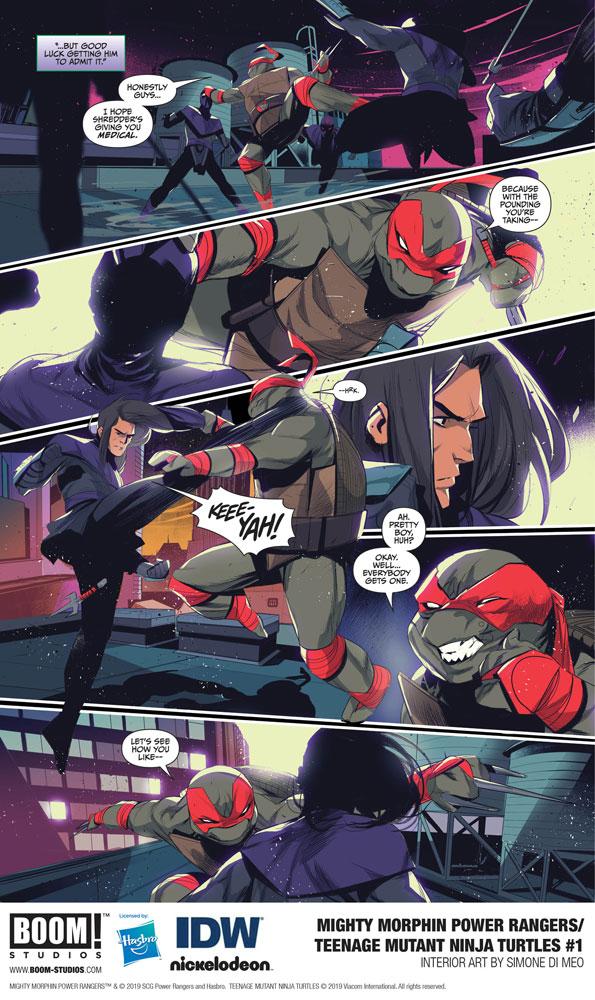 Mighty Morphin Power Rangers / Teenage Mutant Ninja Turtles #1 (cover C - Montes)  [2019] - Boom! Studios