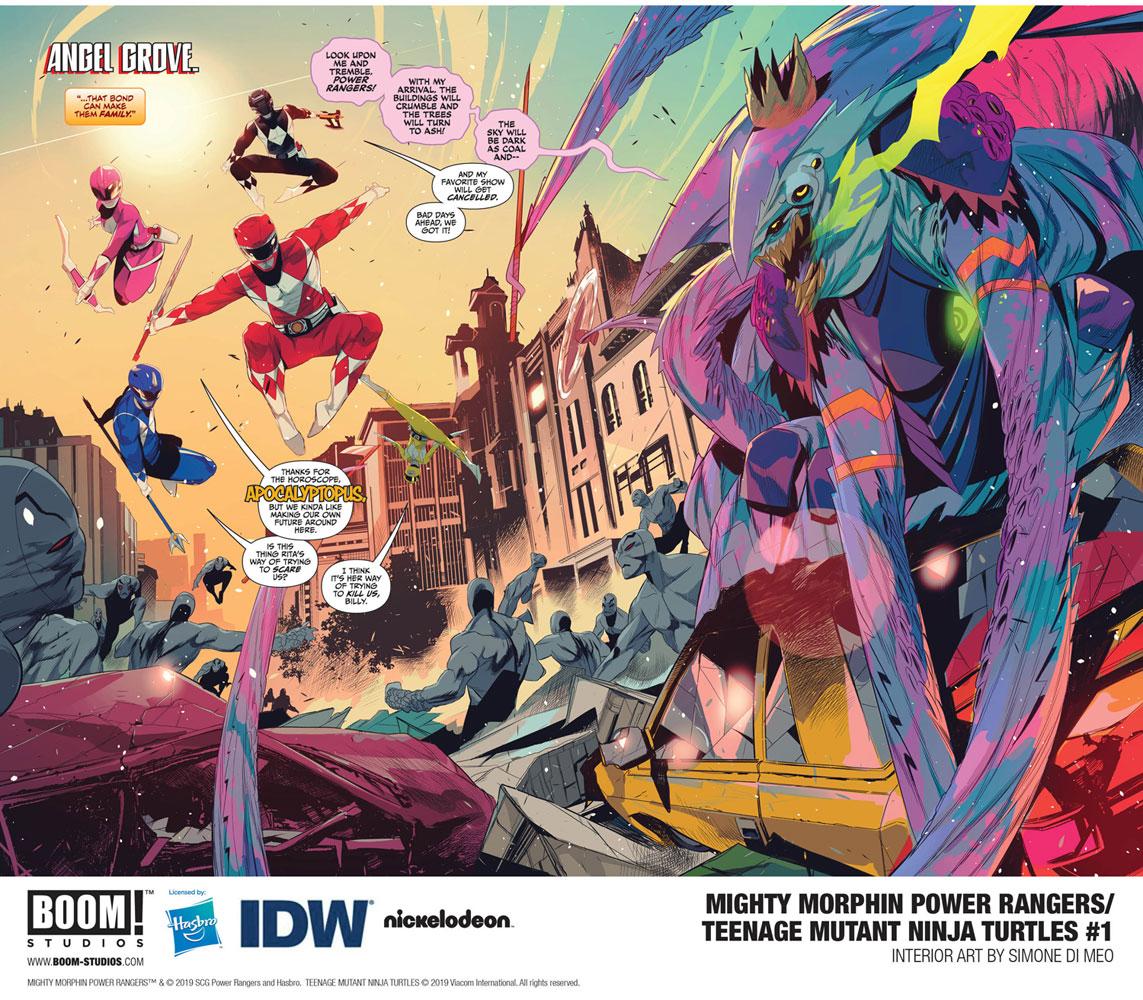 Mighty Morphin Power Rangers / Teenage Mutant Ninja Turtles #1 (cover D - Montes)  [2019] - Boom! Studios