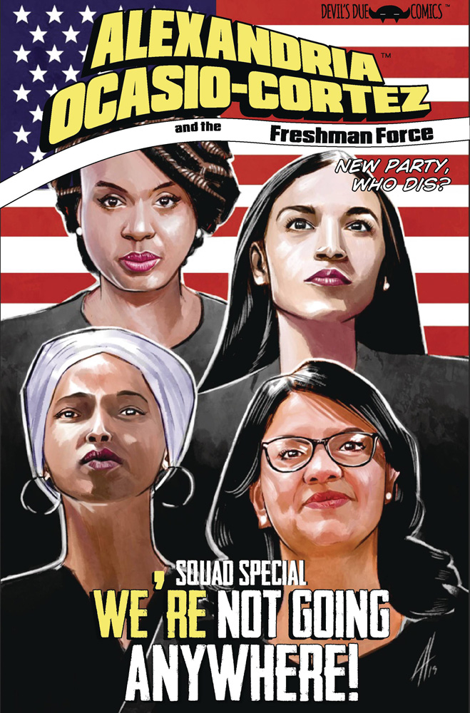 Image: Alexandria Ocasio-Cortez and the Freshman Force: Squad Special  (cover A)  [2019] - Devils Due