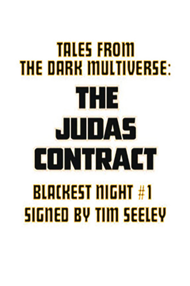 Image: Tales from Dark Multiverse: Juda's Contract #1 (DFE signed - Raney) - Dynamic Forces