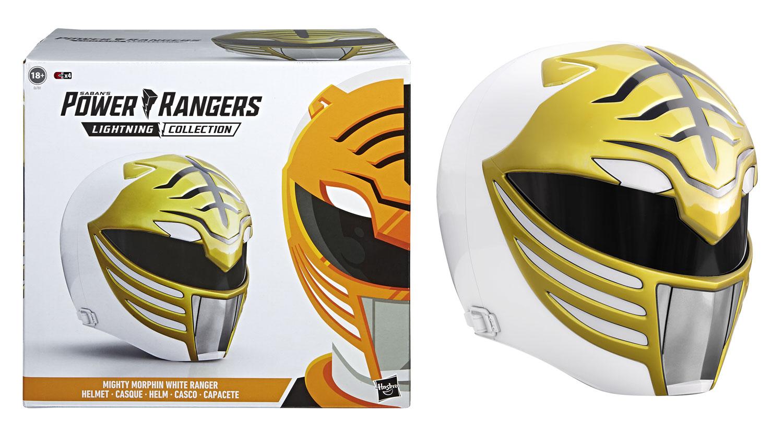 Power Rangers Lightning Collection Helmet: MMPR White Ranger  - Hasbro Toy Group