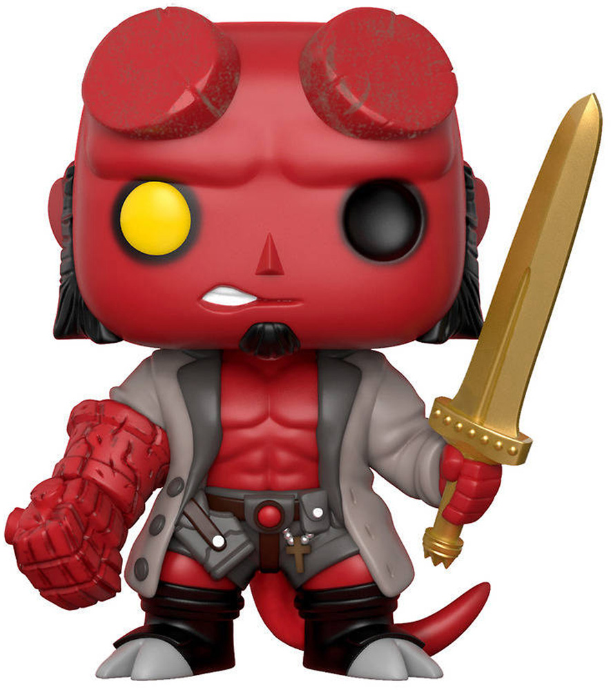 Image: Pop! Comics Vinyl Figure 014: Hellboy with Sword  - Funko