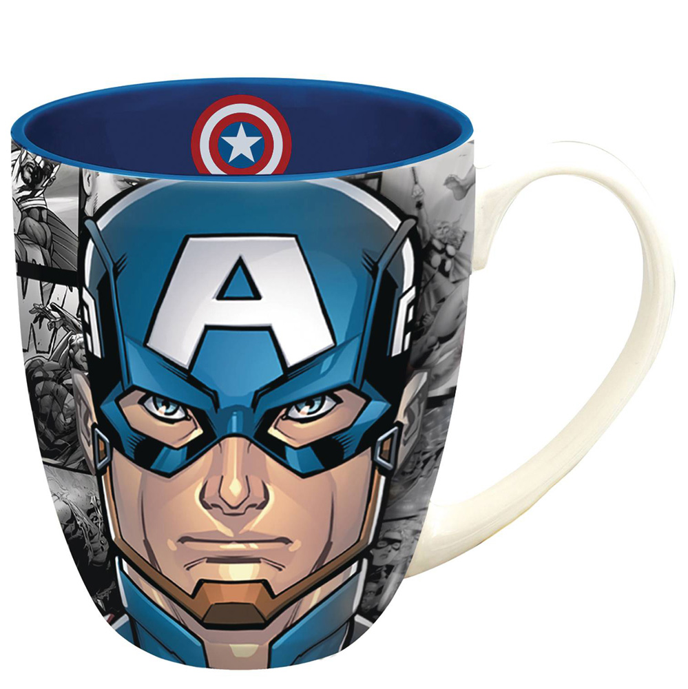 Image: Marvel Heroes Mug: Captain America Face  - Monogram Products