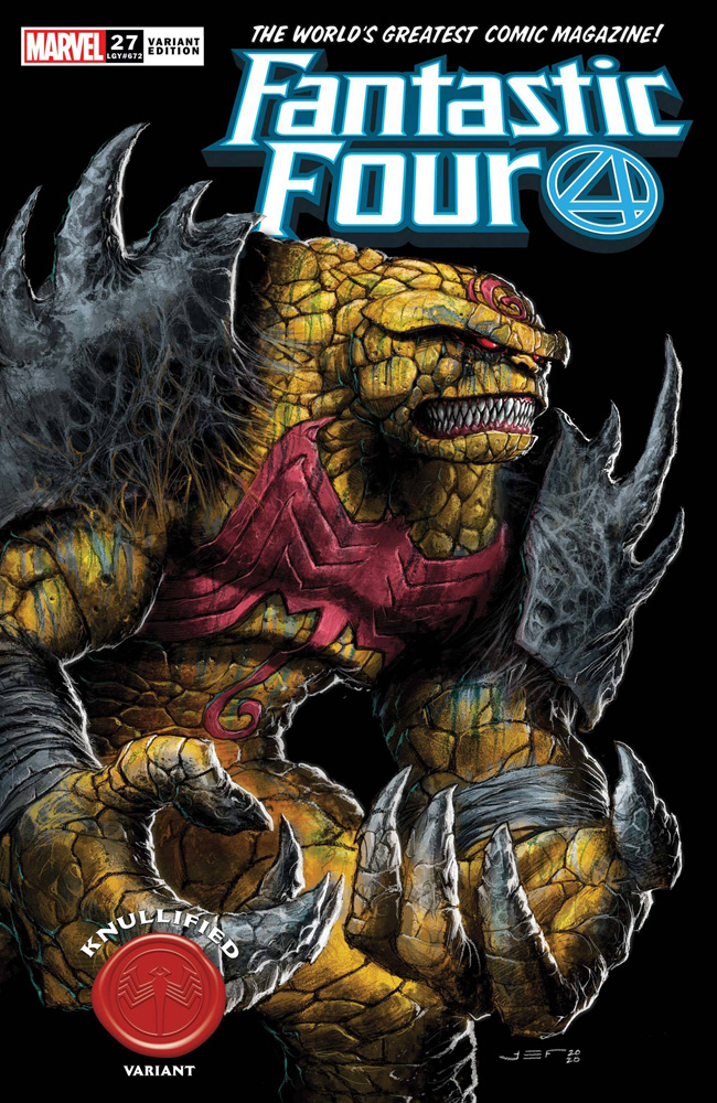 Image: Fantastic Four #27 (variant Knullified cover - Ferreyra) - Marvel Comics