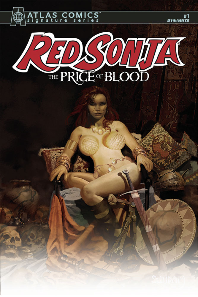 Image: Red Sonja: Price of Blood #1 (Atlas signed edition) - Dynamite