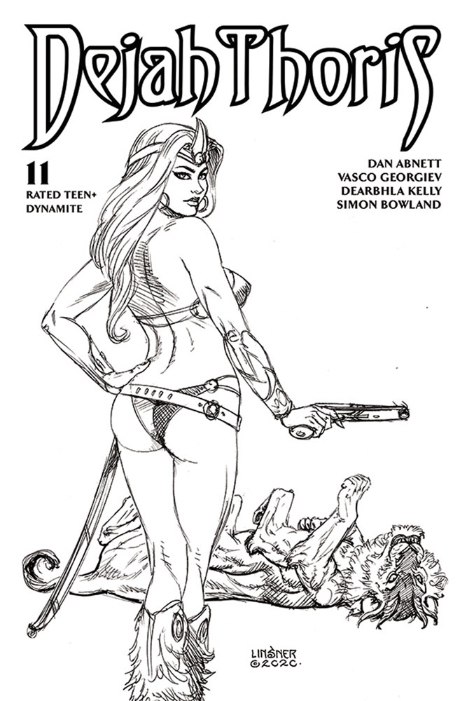 Image: Dejah Thoris [2019] #11 (incentive 1:20 cover - Linsner B&W) - Dynamite